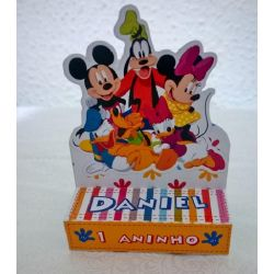 Porta bis duplo Turma do mickey