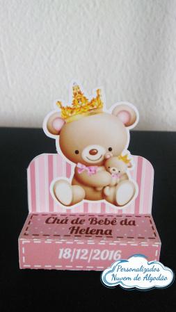 Porta bis duplo Ursinha Princesa-Porta bis duplo Ursinha Princesa  Fazemos em qualquer tema. Envie nome e idade para personalizaç