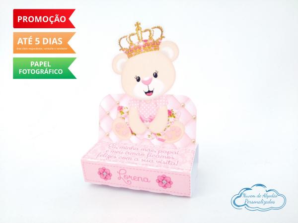 Porta bis duplo Ursinha princesa-Porta bis duplo Ursinha princesa Fazemos em qualquer tema. Envie nome e idade para personalizaçã