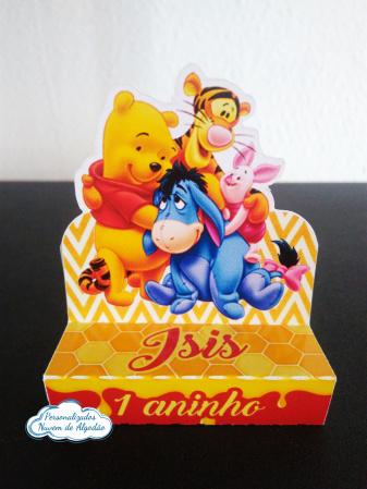 Porta bis duplo Ursinho Pooh-Porta bis duplo Ursinho Pooh Fazemos em qualquer tema. Envie nome e idade para personalização.
