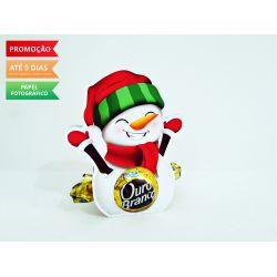 Porta bombom Natal - Boneco de Neve