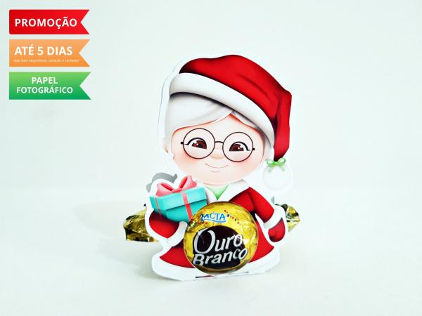 Porta bombom Natal - Mamãe Noel-Porta bombom Natal -  Mamãe Noel  Fazemos todos os temas  Na hora do seu pedido informe os dado