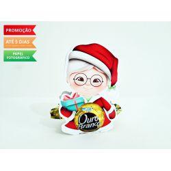 Porta bombom Natal - Mamãe Noel