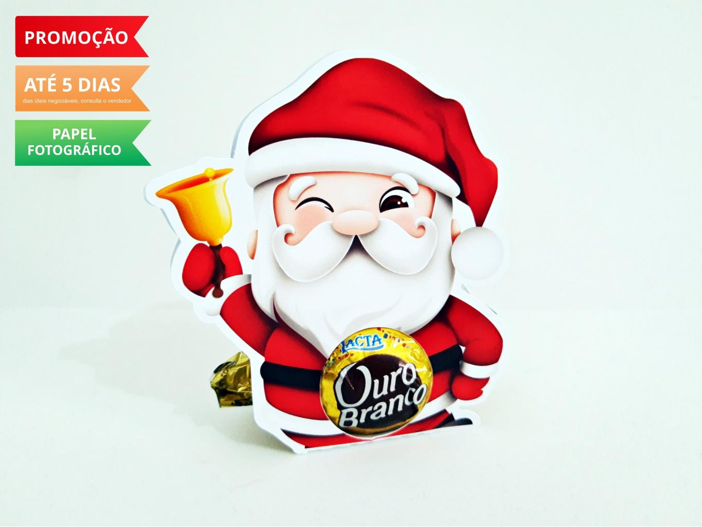 Nuvem de algodão personalizados - Porta bombom Natal - Papai Noel
