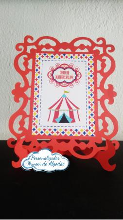 Porta retrato Circo - Vermelho-Porta retrato Circo - Vermelho  Fazemos todos os temas e cores.  Na hora do seu pedido informe o