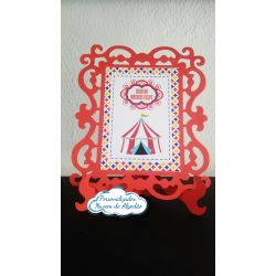 Porta retrato Circo - Vermelho