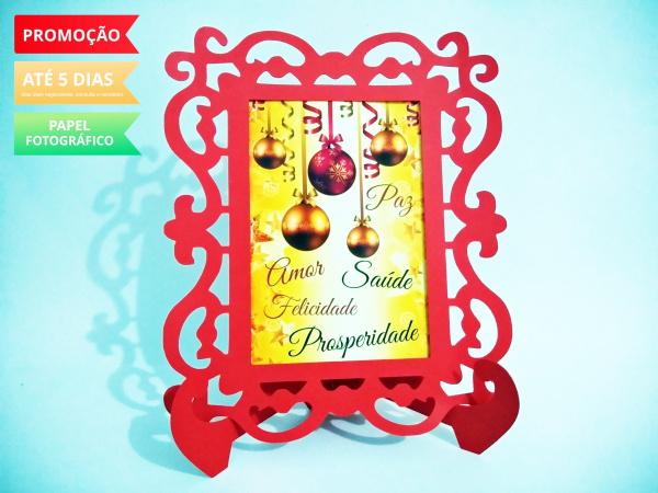 Porta Retrato Natal - Bolas-Porta Retrato Natal - Bolas  Fazemos todos os temas e cores.  Na hora do seu pedido informe os d