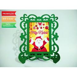 Porta Retrato Natal - Papai Noel