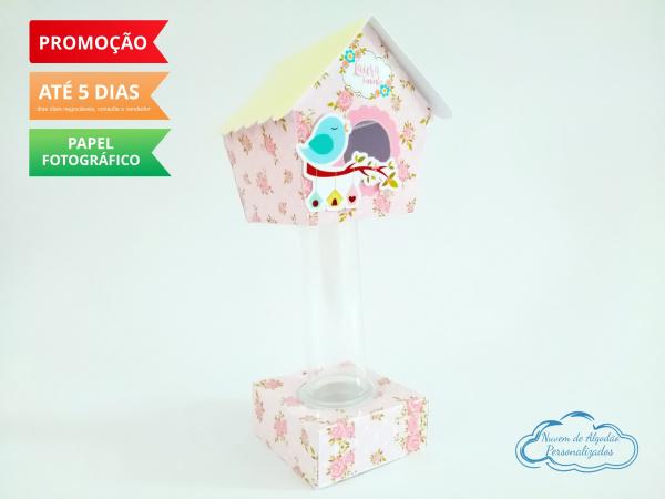 Porta tubete Jardim Encantado - rosa-Porta tubete Jardim Encantado - rosa  Para tubete de 13cm  Fazemos todos os temas  Na hora do