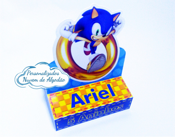 Porta bis duplo Sonic-Porta bis duplo Sonic Fazemos em qualquer tema. Envie nome e idade para personalização.  - Pro