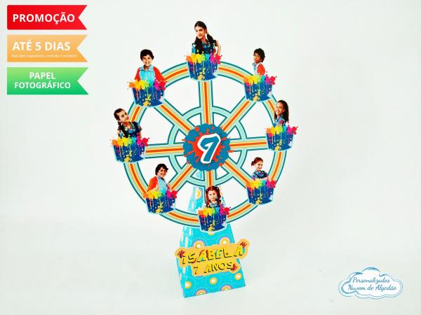 Roda gigante Chiquititas-Roda gigante Chiquititas Fazemos em qualquer tema. Envie nome e idade para personalização.  -