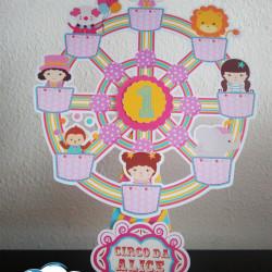 Roda gigante Circo rosa