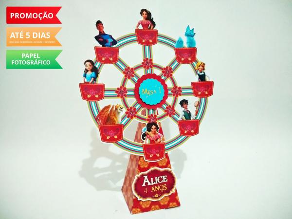Roda gigante Elena de Avalor-Roda gigante Elena de Avalor Fazemos em qualquer tema. Envie nome e idade para personalização.