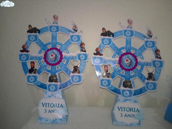 Roda gigante Frozen-Roda gigante Frozen Fazemos em qualquer tema. Envie nome e idade para personalização.  - O val