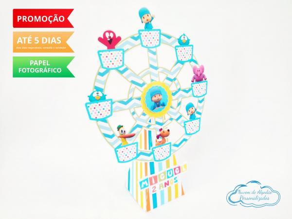 Roda Gigante Pocoyo Azul-Roda Gigante Pocoyo Azul Fazemos em qualquer tema. Envie nome e idade para personalização.  -