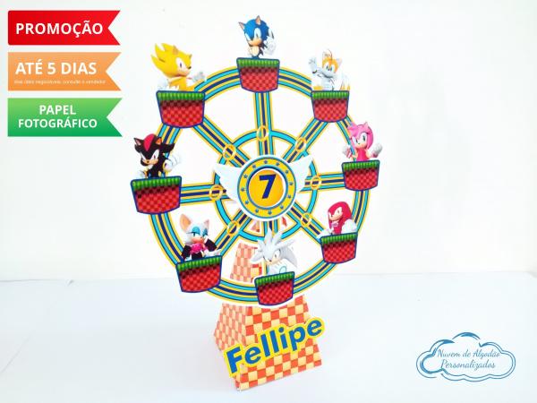 Roda gigante Sonic-Roda gigante Sonic Fazemos em qualquer tema. Envie nome e idade para personalização.  - O valo