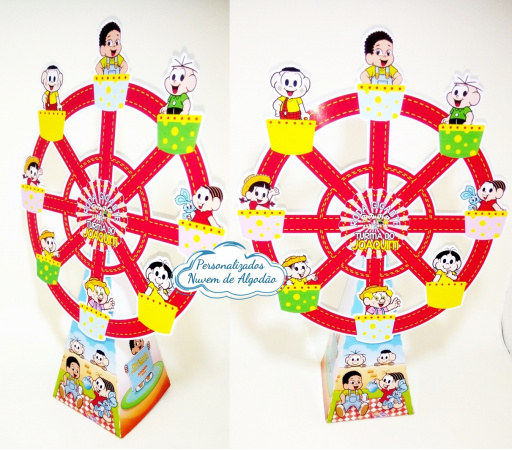 Roda gigante Turma da Mônica-Roda gigante Turma da Mônica Fazemos em qualquer tema. Envie nome e idade para personalização.
