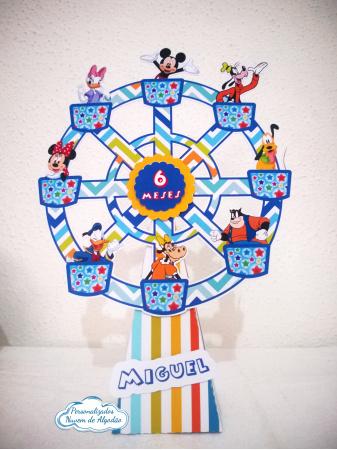 Roda gigante Turma do Mickey-Roda gigante Turma do Mickey Fazemos em qualquer tema. Envie nome e idade para personalização.