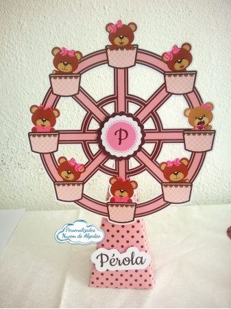 Roda gigante Ursinha princesa-Roda gigante Ursinha princesa Fazemos em qualquer tema. Envie nome e idade para personalização.