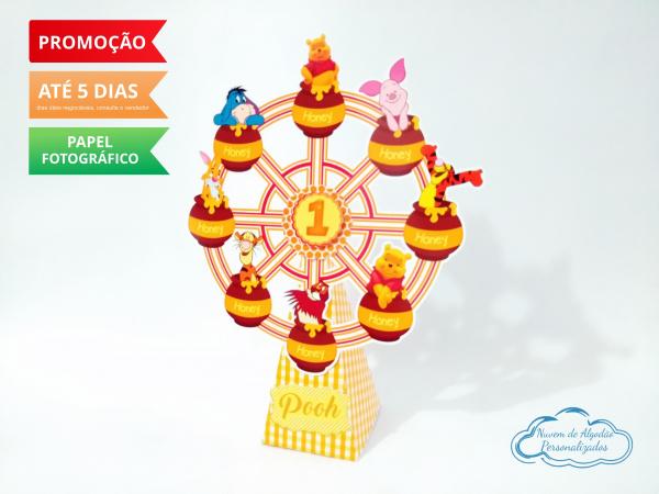 Roda gigante Ursinho Pooh-Roda gigante Ursinho Pooh Fazemos em qualquer tema. Envie nome e idade para personalização.  -