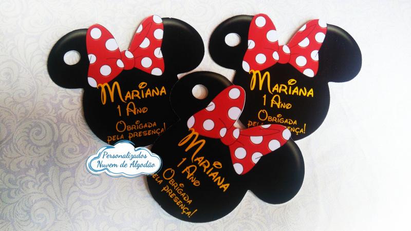 Tag de agradecimento Minnie Vermelha-Tag de agradecimento Minnie Vermelha  Fazemos em qualquer tema. Envie nome e idade para personaliz