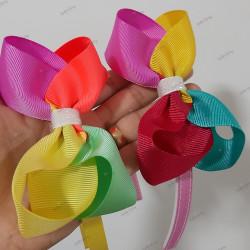 Tiara com laço boutique colorido