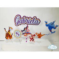 Topo de bolo Aladdin