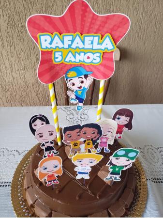 Topo de bolo Aventureiros Luccas Neto-Topo de bolo Aventureiros Luccas Neto  - Nos informe os dados para personalização após pagament
