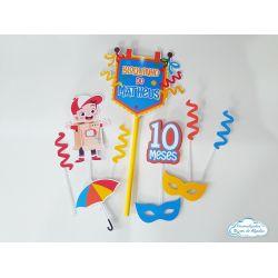 Topo de bolo Carnaval menino