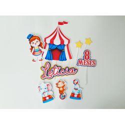 Topo de bolo Circo