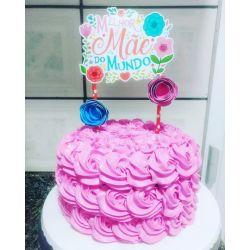 Topo de bolo Dia das mães