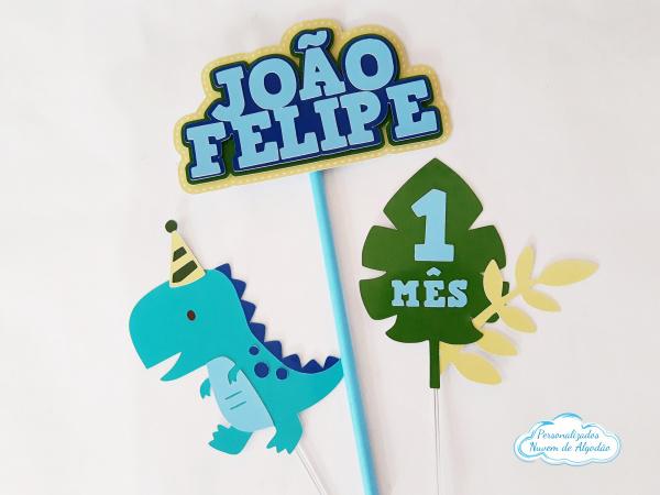 Topo de bolo dinossauro baby-Topo de bolo dinossauro baby  - Nos informe os dados para personalização após pagamento. - Pap