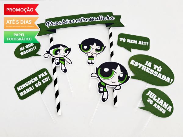 Topo de bolo Docinho-Topo de bolo Docinho  - Papel fotográfico glossy 230g  - Acompanham os palitos