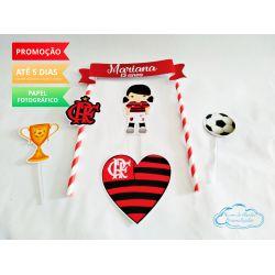 Topo de bolo Flamengo