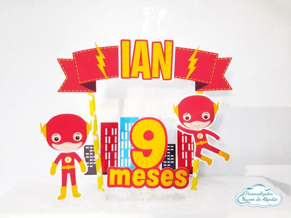 Topo de bolo Flash-Topo de bolo Flash  - Papel fotográfico glossy 230g - Acompanham os palitos