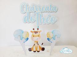 Topo de bolo Girafa - Chárreata
