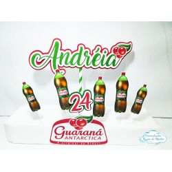 Topo de bolo Guaraná Antarctica
