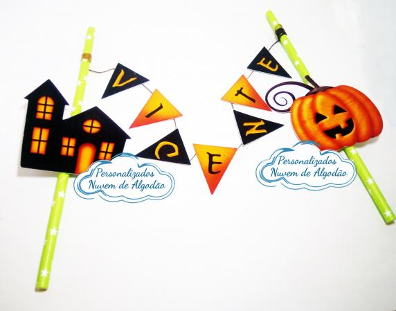 Topo de bolo Halloween-Topo de bolo Halloween  - Papel fotográfico glossy 230g  - Acompanham os palitos