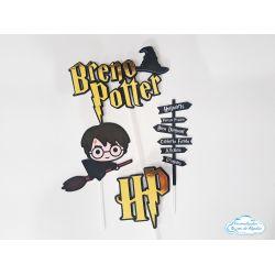 Topo de bolo Harry Potter cute