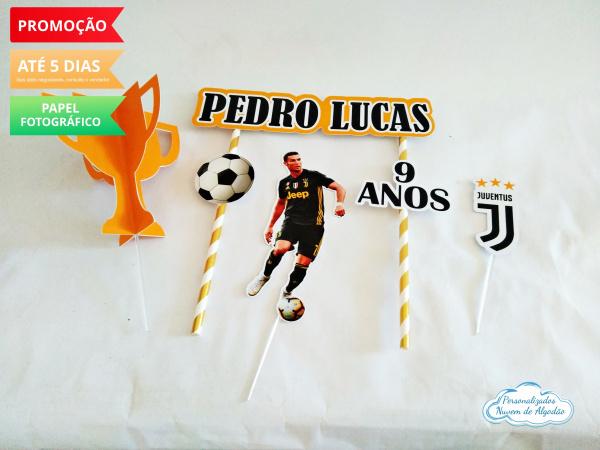 Topo de bolo Juventus-Topo de bolo  Juventus  - Papel fotográfico glossy 230g  - Acompanham os palitos