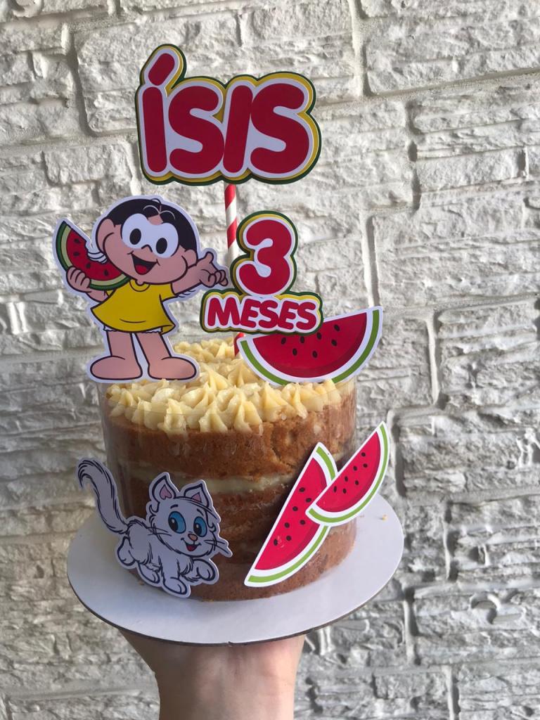Nuvem de algodão personalizados - Topo de bolo Magali