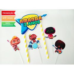 Topo de bolo Mini Beats Power Rockers