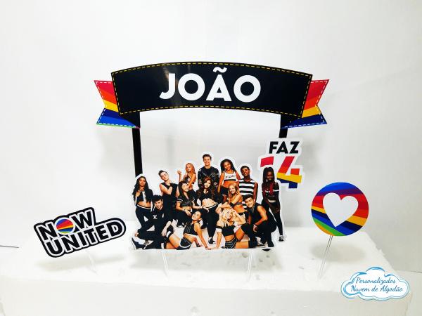 Topo de bolo Now united-Topo de bolo Now united  - Papel fotográfico glossy 230g  - Acompanham os palitos