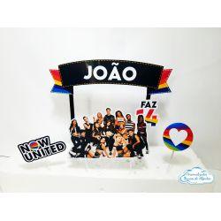 Topo de bolo Now united