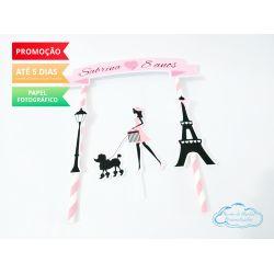 Topo de bolo Paris
