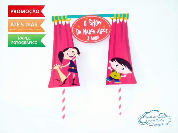 Topo de bolo Show da Luna-Topo de bolo Show da Luna  - Papel fotográfico glossy 230g  - Acompanham os palitos