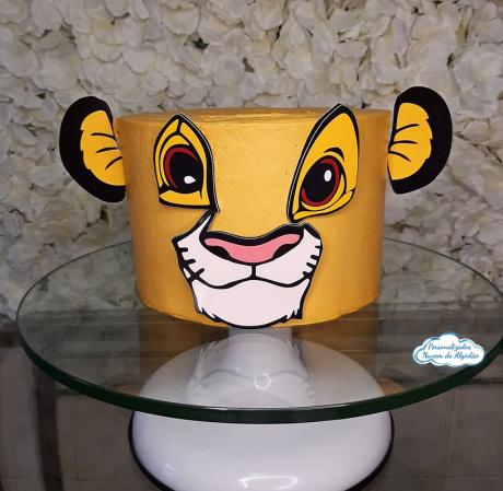 Topo de bolo Simba - Rei leão-Topo de bolo Simba - Rei leão  - Nos informe os dados para personalização após pagamento. - P