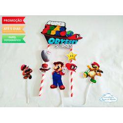 Topo de bolo Super Mario Odyssey