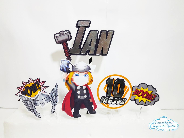 Nuvem de algodão personalizados - Topo de bolo Thor