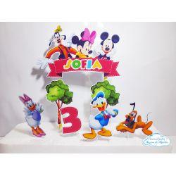 Topo de bolo Turma do Mickey